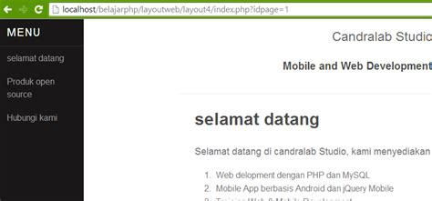 membuat database website dinamis candralab
