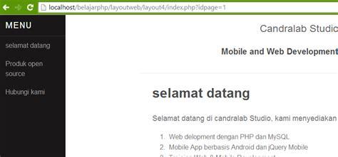 membuat isi halaman web menjadi dinamis dengan php candralab