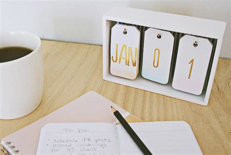 Diy Desk Calendar Craft Office Archives Home Made By Carmona