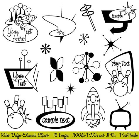 retro cocktail clipart vintage clipart cocktail pencil and in color