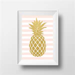 Pineapple Wall Decor by Items Similar To Pineapple Wall Gold Pineapple Pink