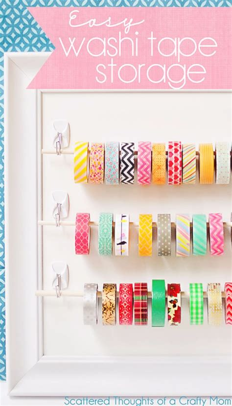 washi tape craft ideas 35 cool craft room storage ideas diy joy