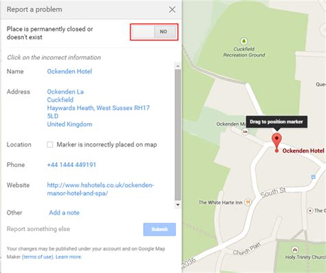 Report A Problem by Report A Problem In Maps About Business Pages Ownership