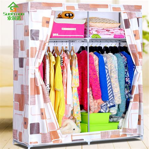 Cloth Wardrobe Oxford Cloth Wardrobe Simple Steel Reinforcement Thick