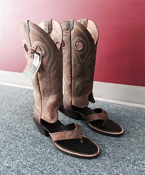 cowboy boots sandals summer s must footwear cowboy boot sandals geekologie