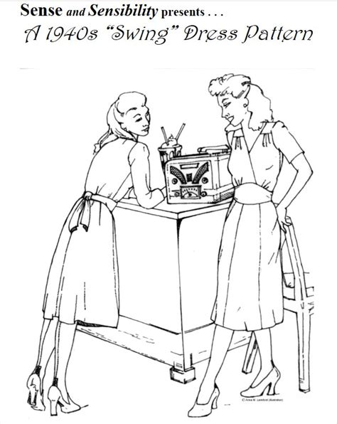1940s swing dress pattern 1940s quot swing quot dress pattern sense sensibility patterns