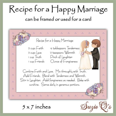 marriage god s way a biblical recipe for healthy joyful centered relationships books recipe for a happy marriage card front digital printable