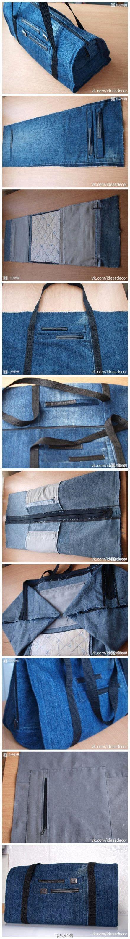 tutorial tas dari celana bekas tutorial cara membuat tas dari baju celana bekas