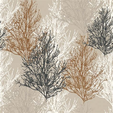 lutece wallpaper glitter trees foliage as creation omega tree chocolate glitter wallpaper 34819 3