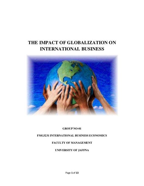 challenges of globalization in international business the impact of globalization on international business