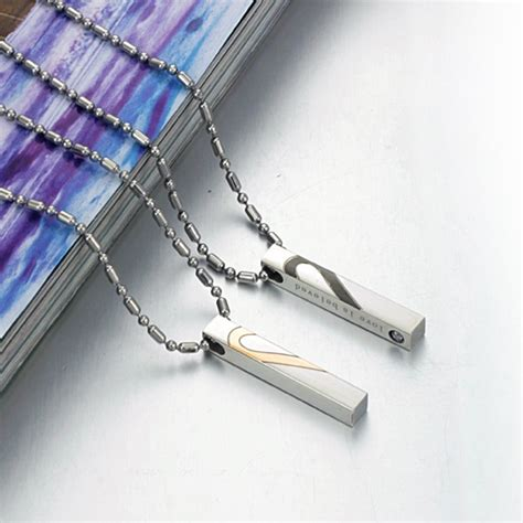 Kalung Baja Putih Anti Karat 4mm kalung matching necklace cincin
