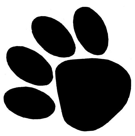 Dog Paw Print Template Clipart Best Paw Print Template