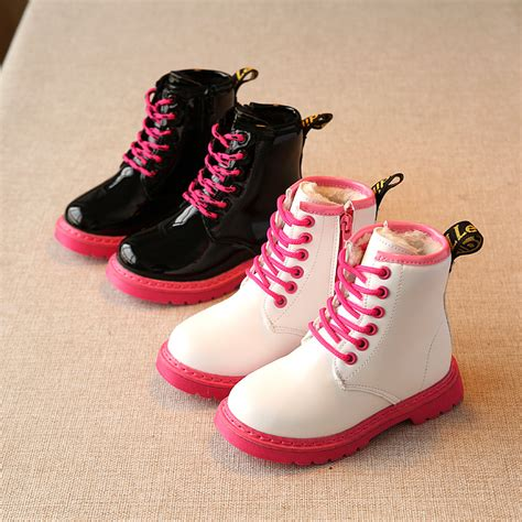 high heel snow boots new 2017 winter fashion big children leather snow boots