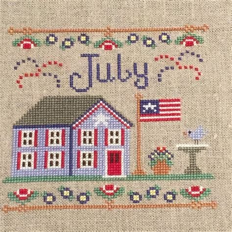 country cottage cross stitch finish 22 for 2015 july cottage by country cottage