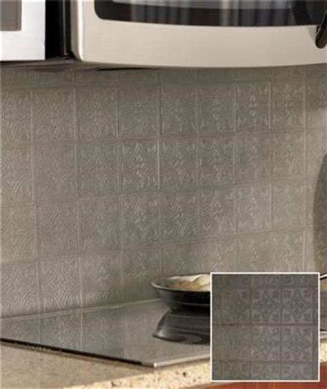 self adhesive kitchen backsplash tiles 27 self adhesive embossed faux metal wall backsplash