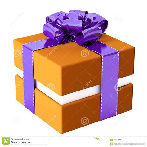 colorful ribbons presents the orange journey the beginning volume 1 books gift box isolated 3d rendering stock illustration image