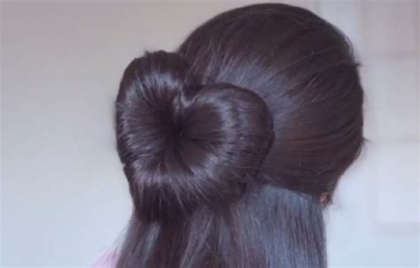 hair styles made into hearts heart bun shemazing