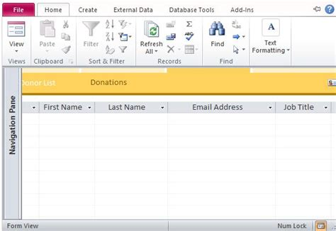 Microsoft Access Donor Database Template Charitable Donor Database Template For Access