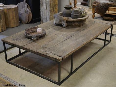 oude industriele salontafel meer dan 1000 idee 235 n over deur salontafels op pinterest