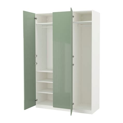 Small Chest Of Drawers For Bathroom - pax wardrobe white fardal high gloss light green 150x60x236 cm ikea