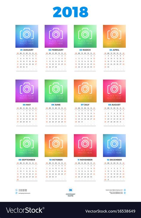 Poster Calendar Template Free