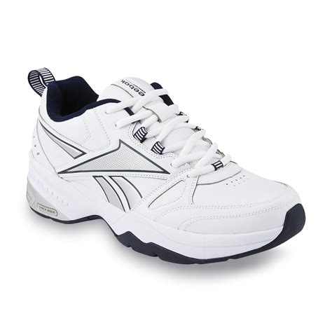 reebok tennis shoes for reebok s royal trainer athletic shoe white navy wide