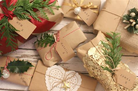 brown christmas gifts gift wrapping ideas with brown paper sleek chic