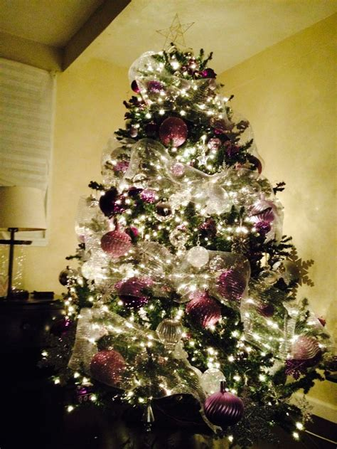 purple silver christmas tree gloria dreams of a sugar