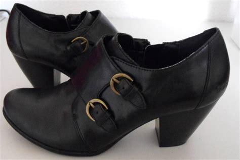 womens born concept boc ankle boots black leather size 10