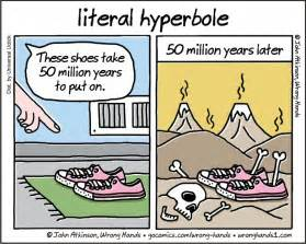 Examples of hyperbole hyperbole semantics
