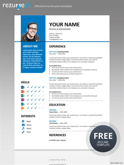 Stylish Resume Templates Free by Bayview Stylish Resume Template