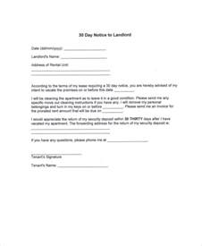 30 day move out notice template 30 day notice 9 free word pdf documents