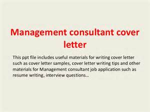 Cover Letter Management Consulting by Management Consultant Cover Letter