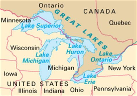 5 great lakes on us map united states map 5 great lakes