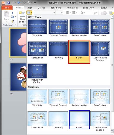 layout button powerpoint applying slide masters to individual slides in powerpoint