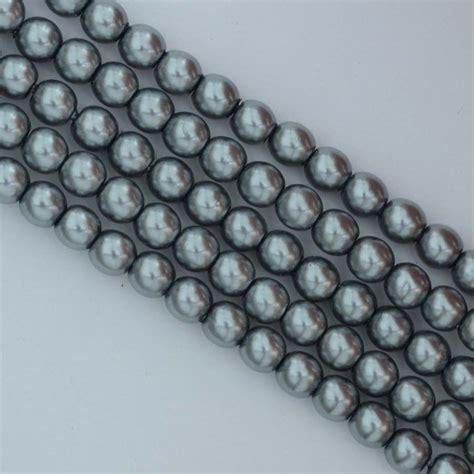 grey beading glass pearl silver 2 3 4 mm grey 24951