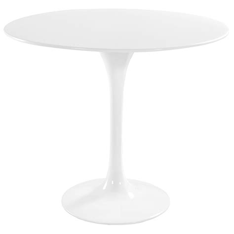 "Odyssey 36"" Round Modern White Dining Table   Eurway"