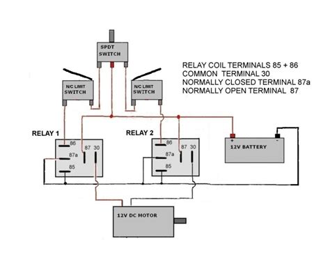 limit switches wiring diagram dc travel limit wiring