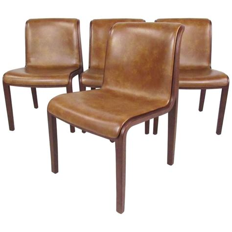Knoll Dining Chairs Set Of Mid Century Dining Chairs By Bill Stephens For Knoll International At 1stdibs
