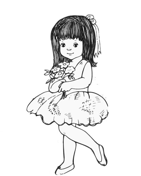 coloring pages flower girl flower girl coloring book flower girl coloring book page