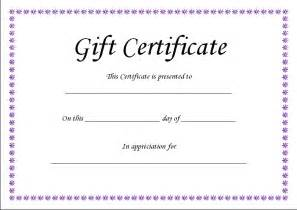 Sample Gift Certificate Template Gift Certificate Templates Quotes