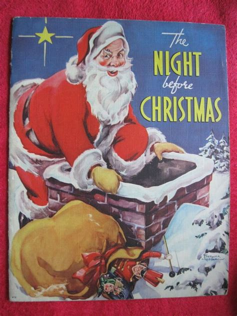 the night before christmas 1406358894 1940 the night before christmas whitman publishing 10 quot x13 quot linen book 1500 free paper dolls for