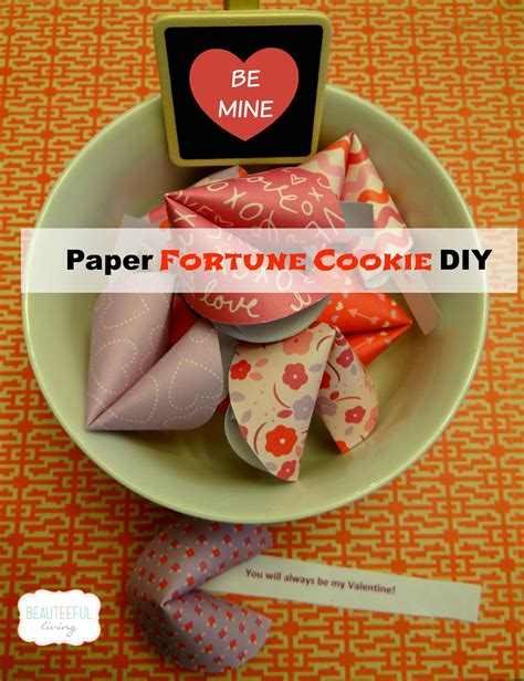 How To Make A Paper Fortune Cookie - paper fortune cookie diy beauteeful living