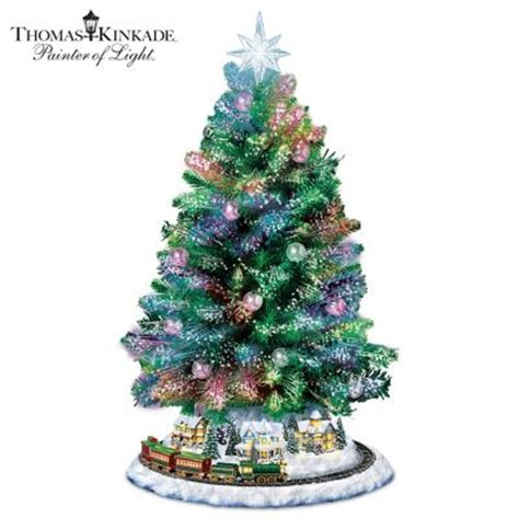 thomas kinkade harbor christmas tree kinkade sparkle tabletop tree