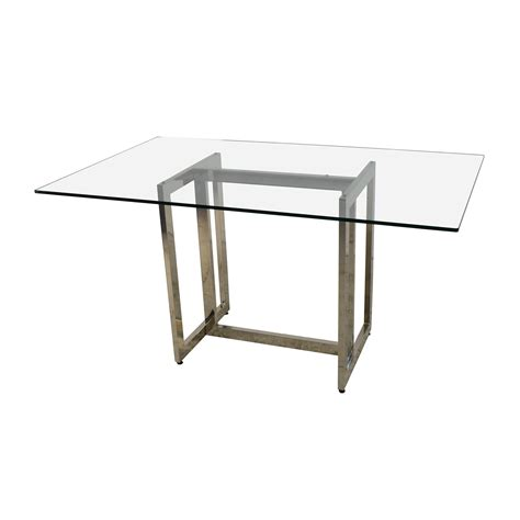 elm glass table 71 elm elm hicks glass top dining table