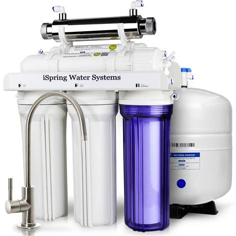 osmosis water filters ispring littlewell wqa gold seal 6 stage 75 gpd osmosis water filter system with 11 watt