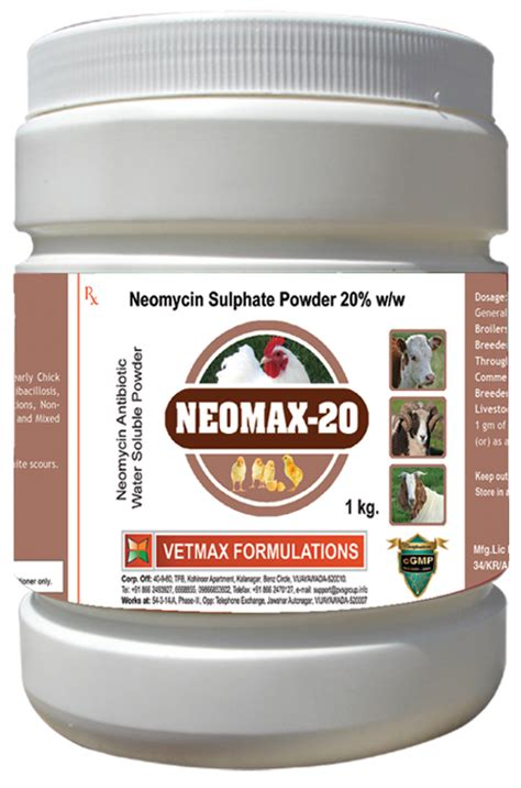 Detoxing Neomycin by Vetmax Formulations