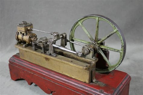 Handmade Steam Engine - antique 19thc handmade steam engine flywheel patent model
