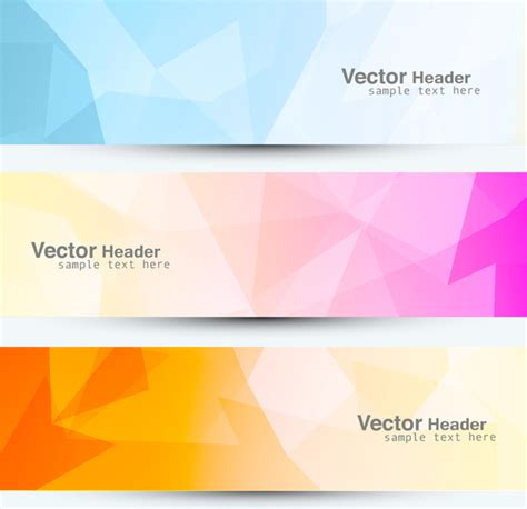 html header design online abstract mosaic header colorful vector design free vector