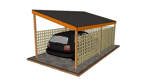 Wood Carport Plans Free carport designs howtospecialist how to build step by
